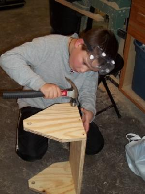 Jordan's favorite hobby, woodworking!