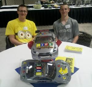 2012 - Chris and Alex with their custom painted JDRF RC Cars - Looking good guys!!!!