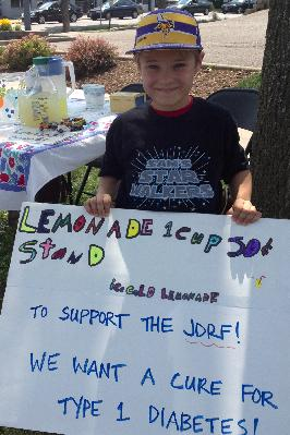 Sam's lemonade stand--we want a cure for Type 1!!