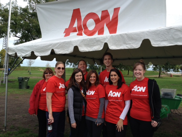 Aon team members at the 2013 Ron Santo Walk to Cure Diabetes